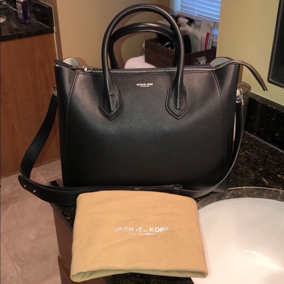 5cb79d1ca0fad Michael kors collection Helena large satchel